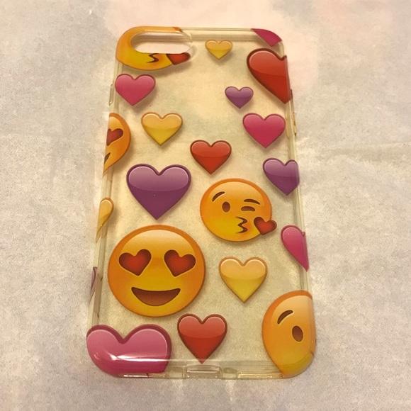 Clear iPhone 7/8 Emoji Case